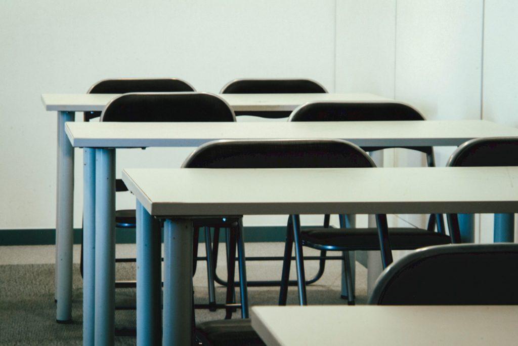 Sala de Formaçao preparada em Escola (pormenor)