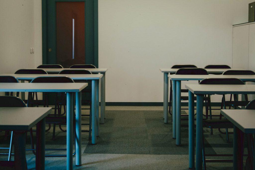 Sala de Formação preparada em Escola