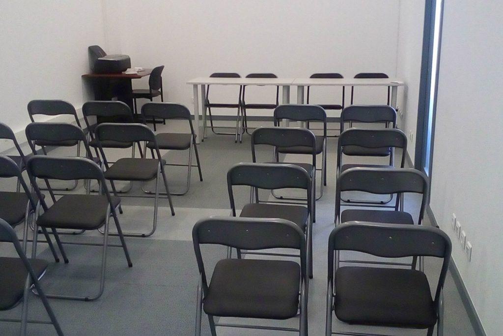Sala de Formação preparada em Plateia