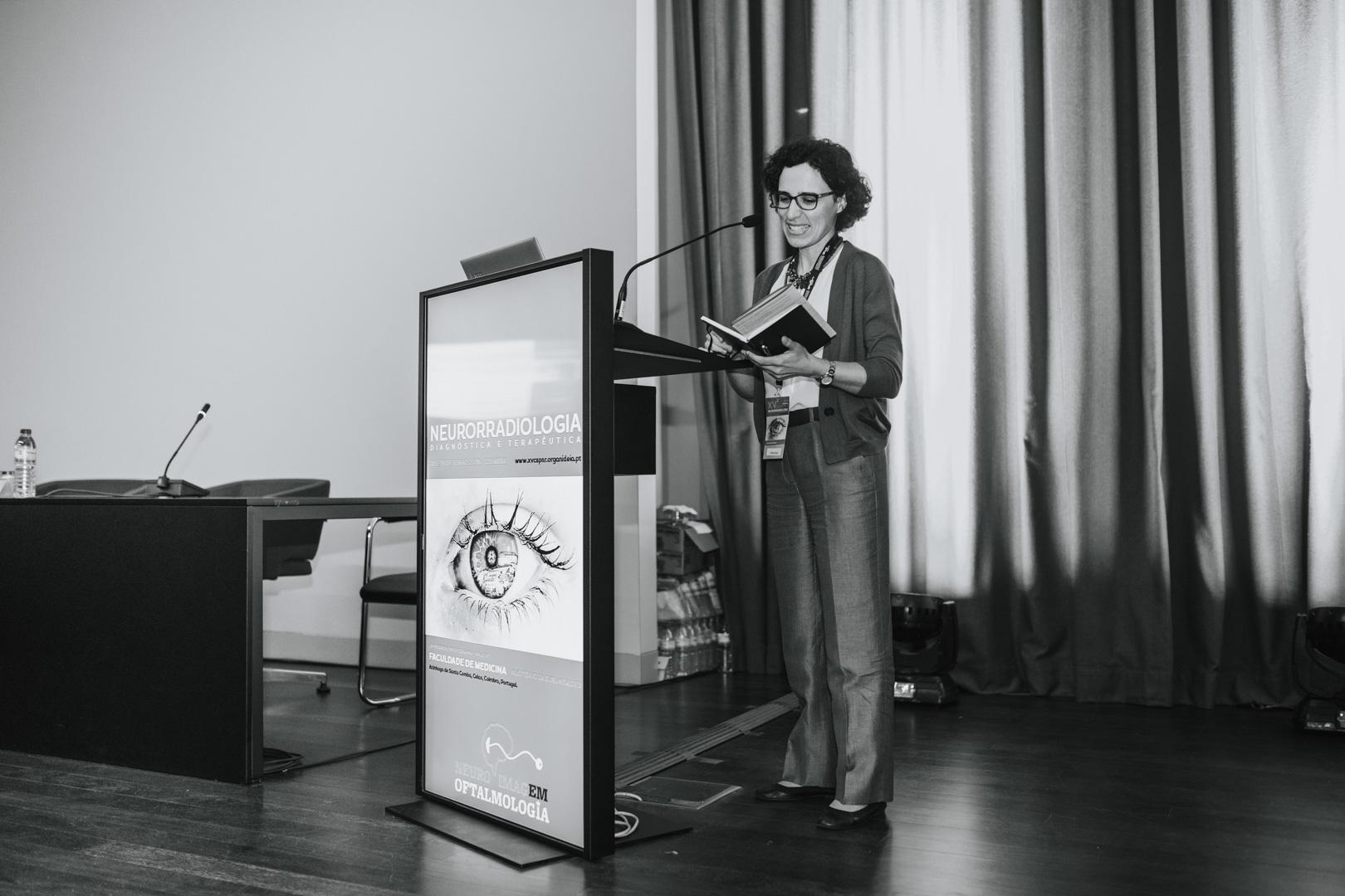 XV Congresso da SPNR - Apresentação de trabalhos ao pulpito digital com a imagem do evento, mais um dos serviços da Organideia