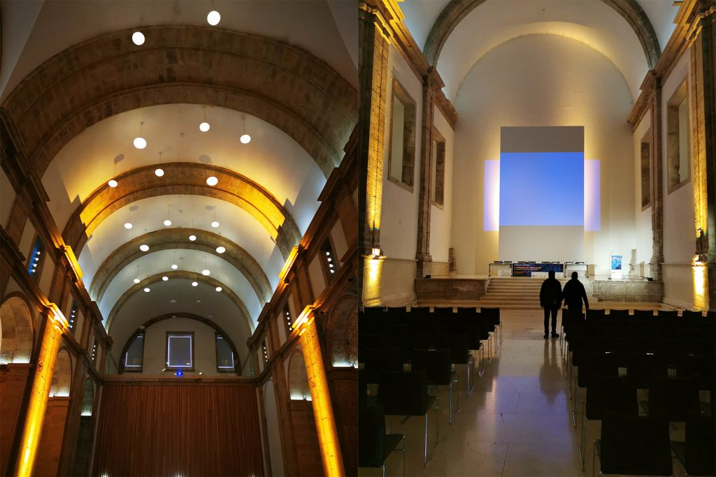 """Fórum – """"O Cérebro no Século XXI"""" - Teste de Som e Imagem no interior da Antiga Igreja do Convento de S. Francisco."""