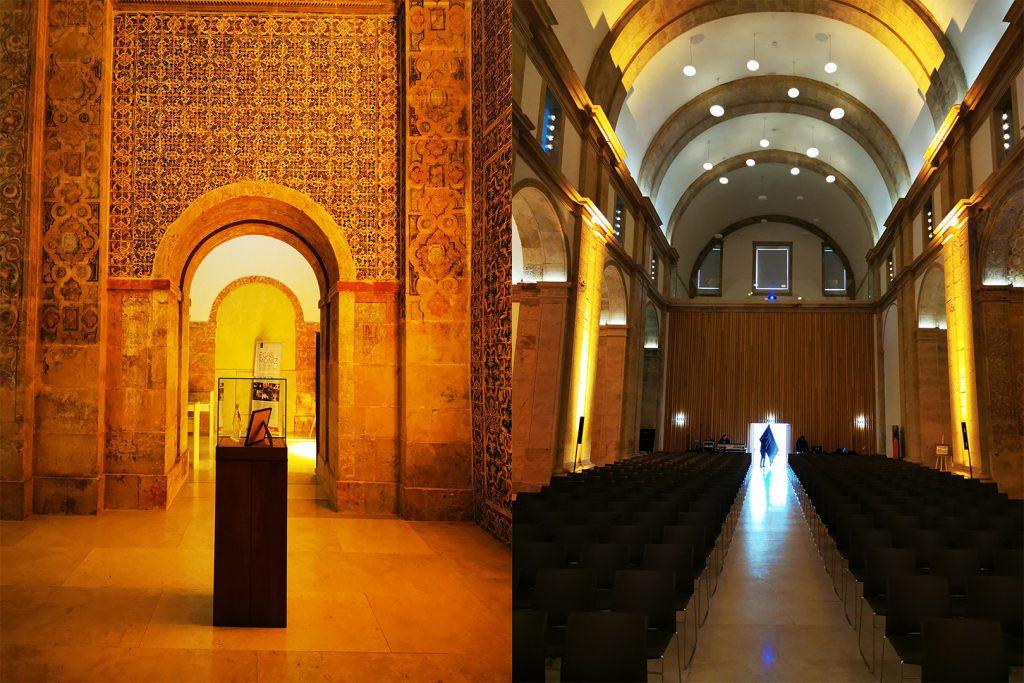 """Fórum – """"O Cérebro no Século XXI"""" - Preparativos no interior da Antiga Igreja do Convento de S. Francisco."""